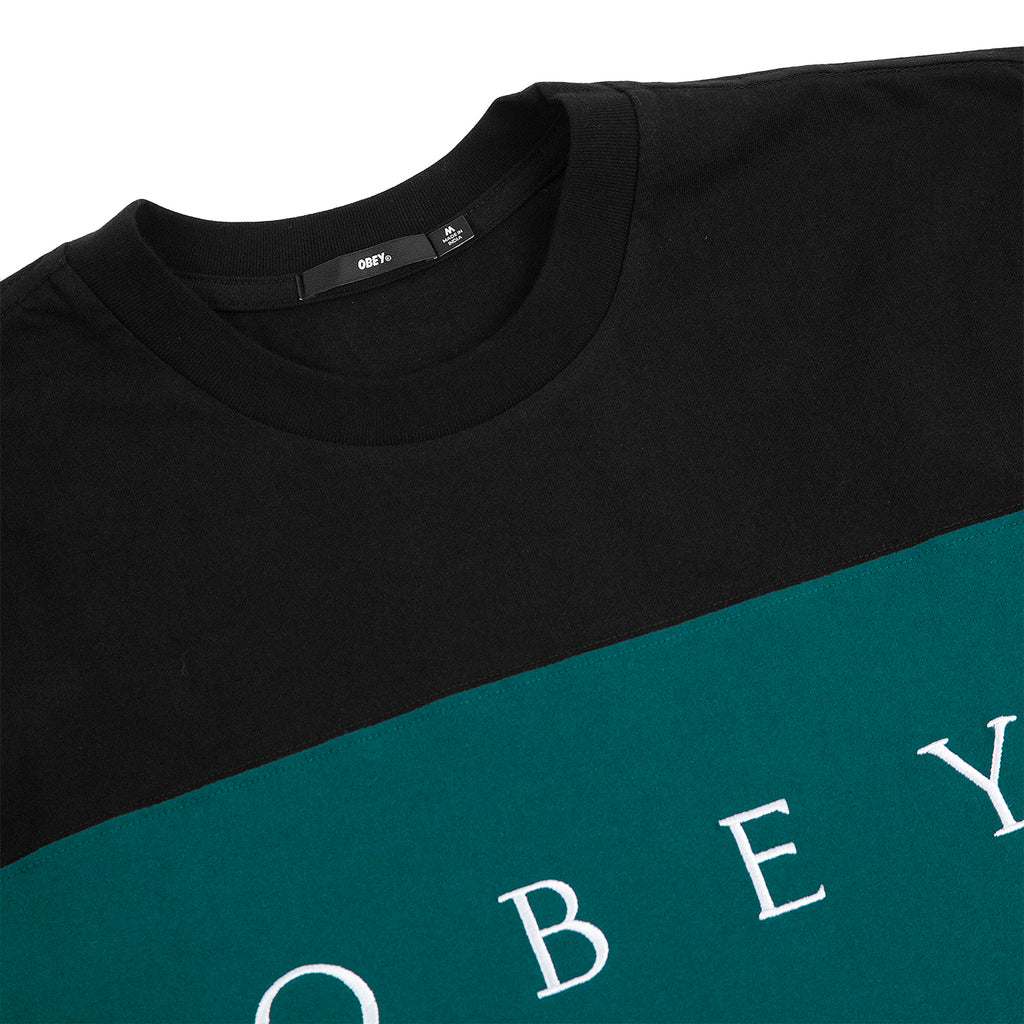 Obey Clothing Conrad Classic T Shirt in Black Multi - Detail