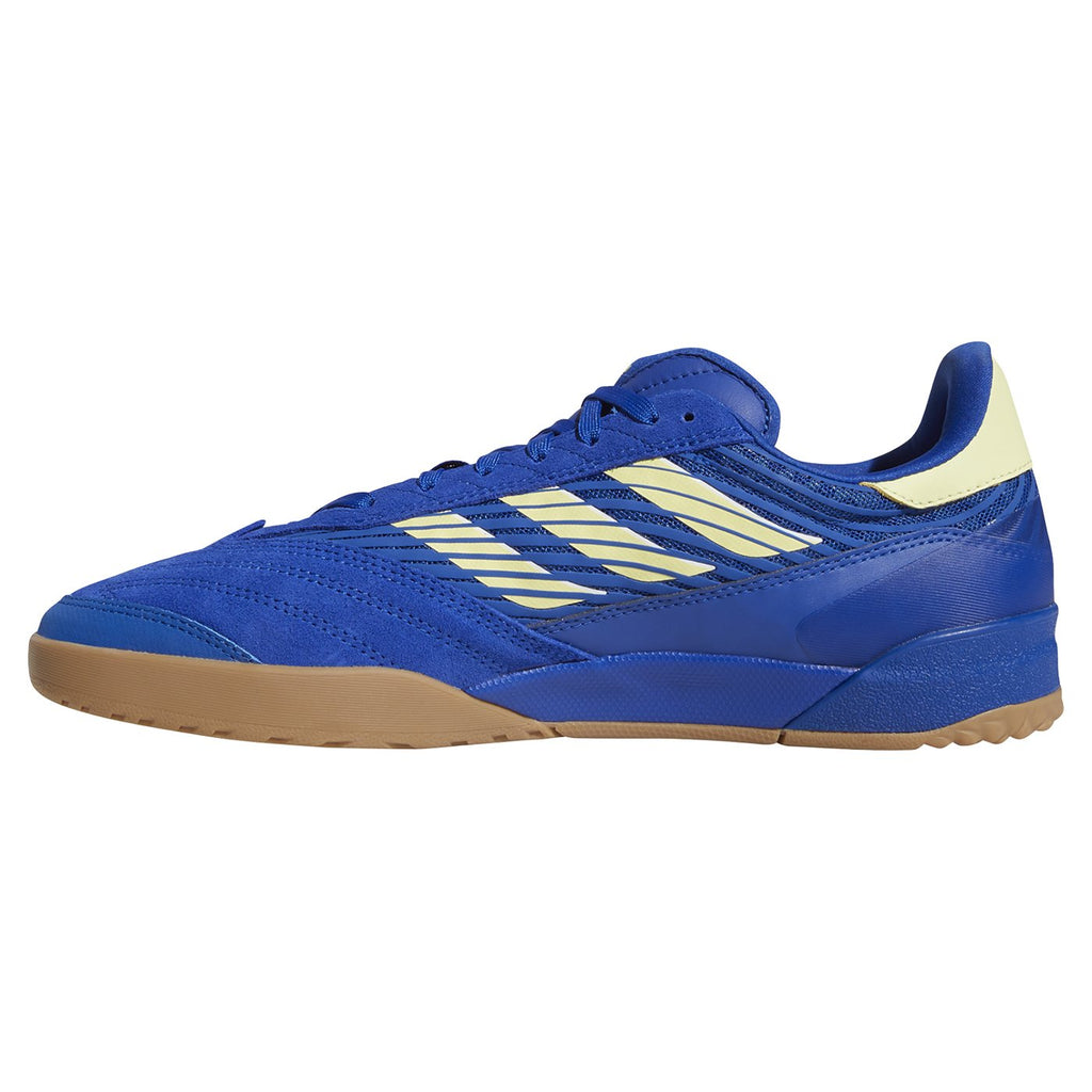 Adidas Skateboarding Copa Nationale Shoes in Royal Blue / Yellow Tint / Footwear White - Instep