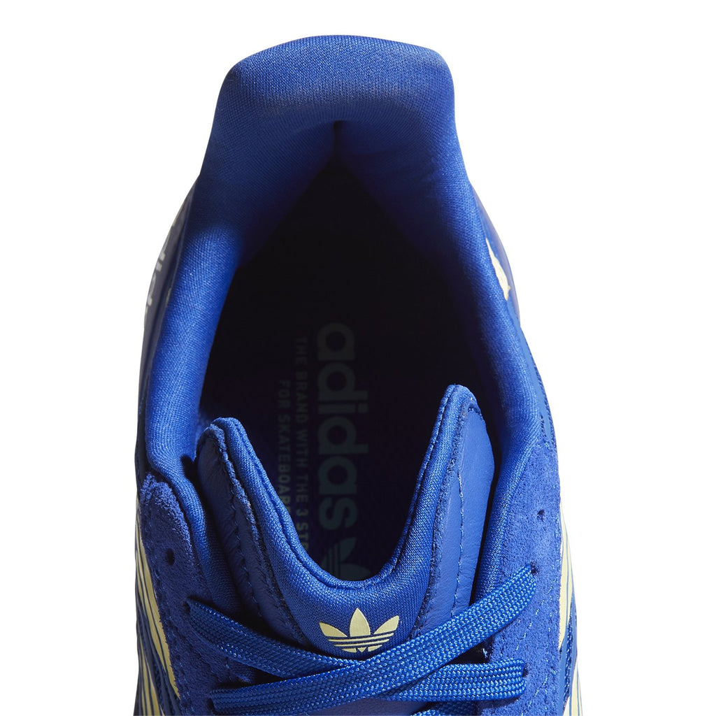 Adidas Skateboarding Copa Nationale Shoes in Royal Blue / Yellow Tint / Footwear White - Top