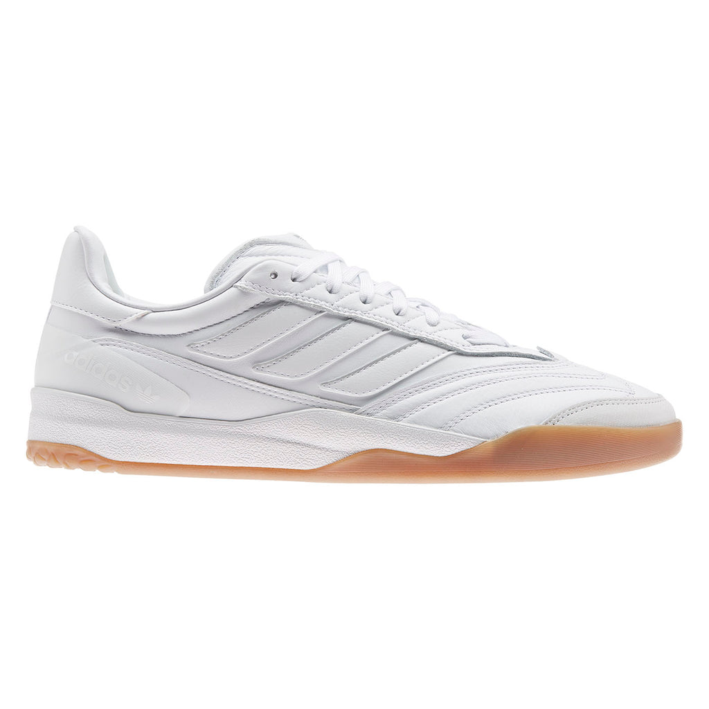 Adidas Skateboarding Copa Nationale Shoes in Footwear White / Silver Metallic / Gum 2