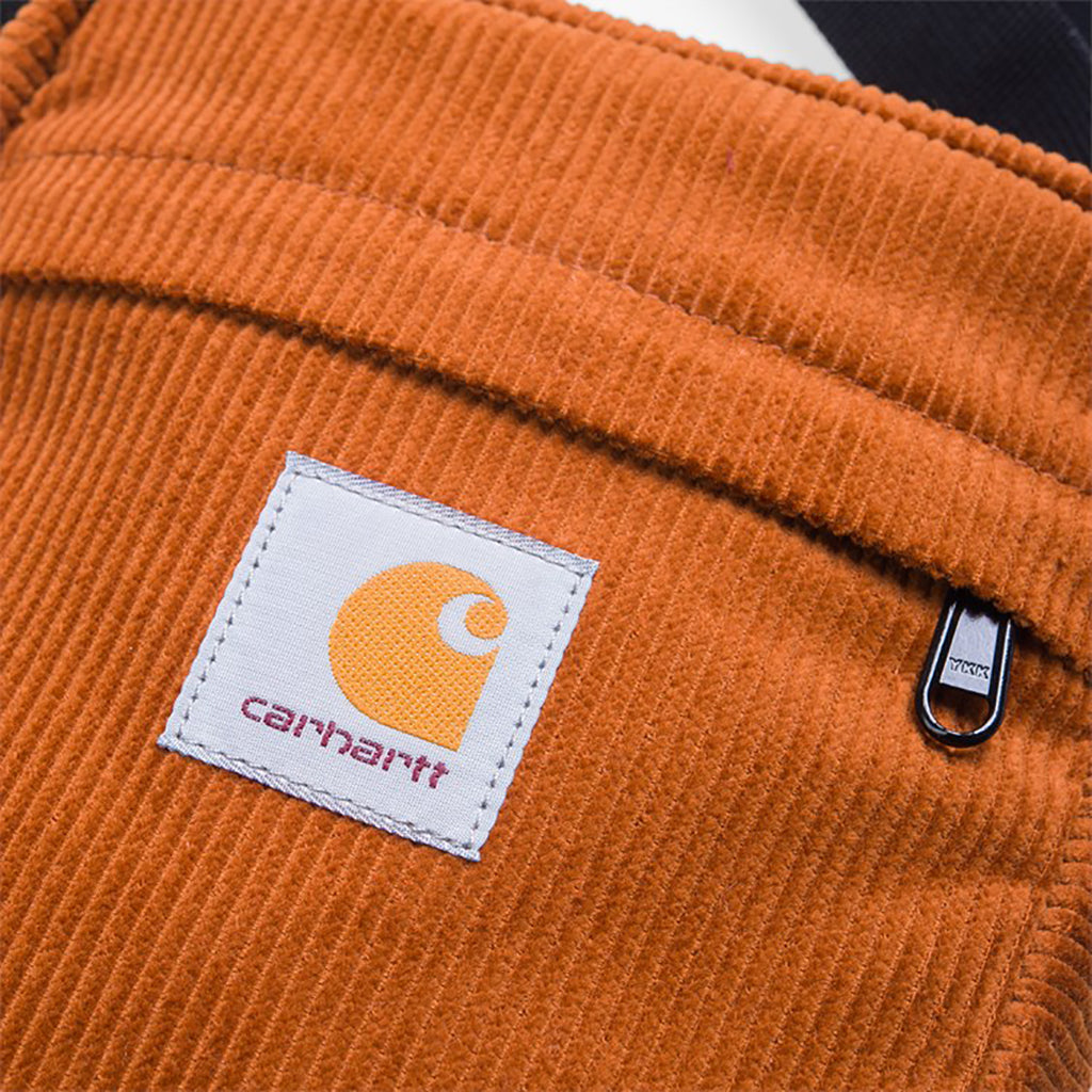 Carhartt WIP Small Cord Bag in Brandy - Label