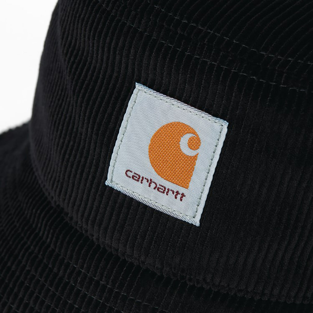 Carhartt WIP Cord Bucket Hat in Black - Label