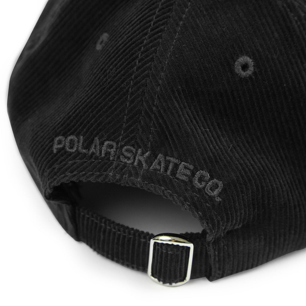 Polar Skate Co Cord Cap in Black - Back