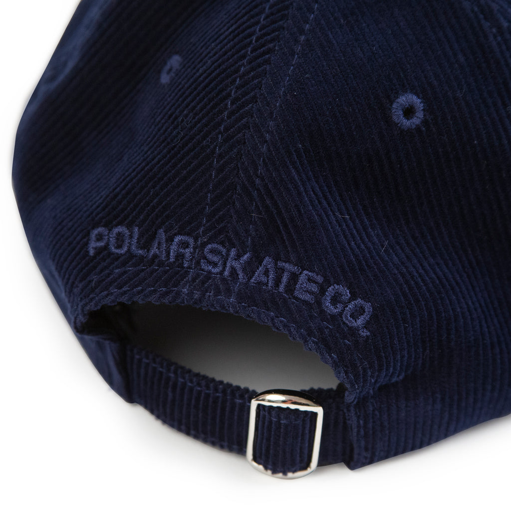 Polar Skate Co Cord Cap in Petrol Blue - Back