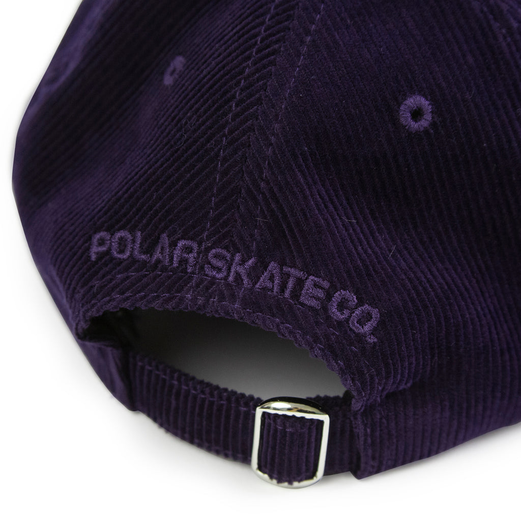 Polar Skate Co Cord Cap in Prune - Back