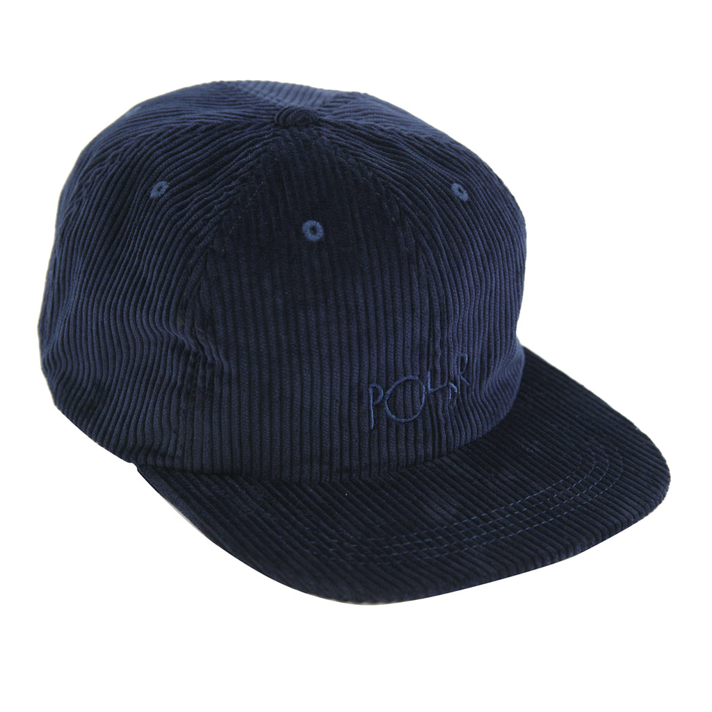 Polar Skate Co Corduroy Cap in Police Blue