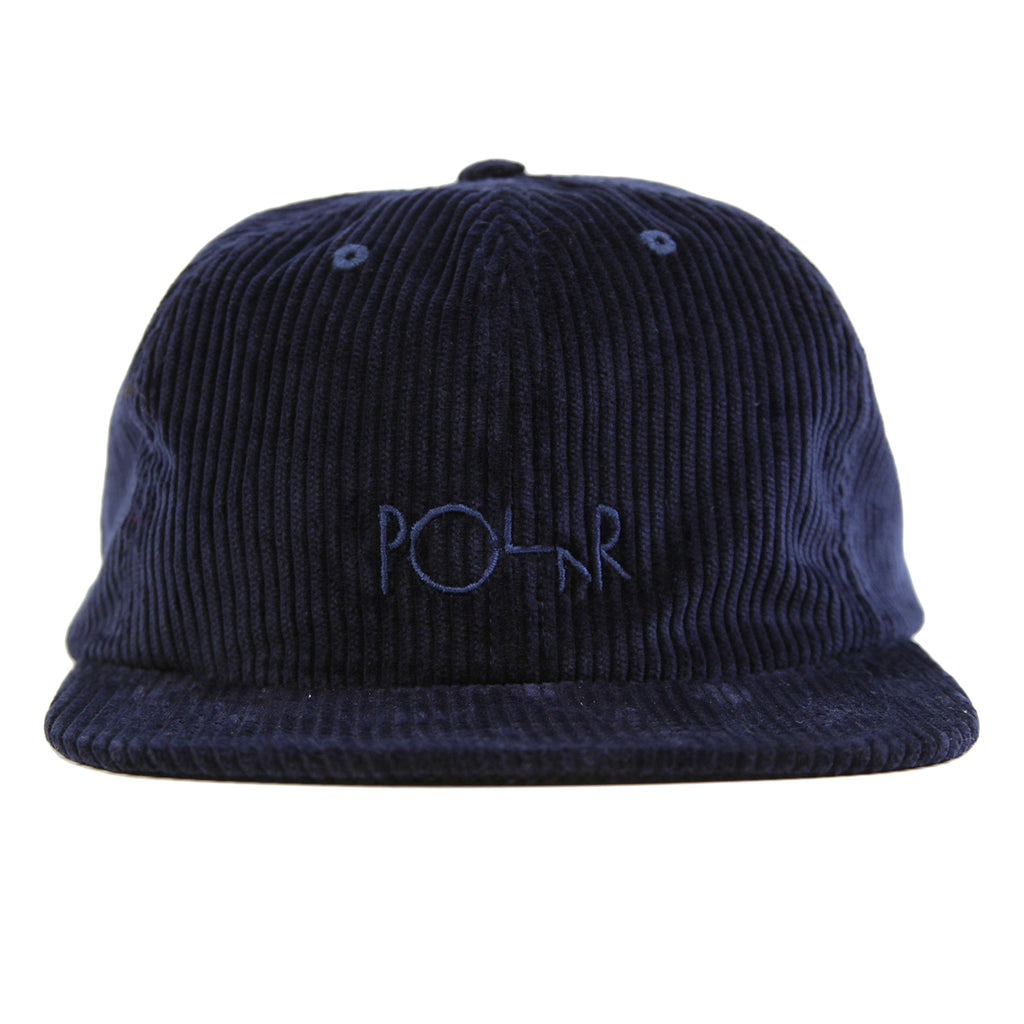 Polar Skate Co Corduroy Cap in Police Blue - Front