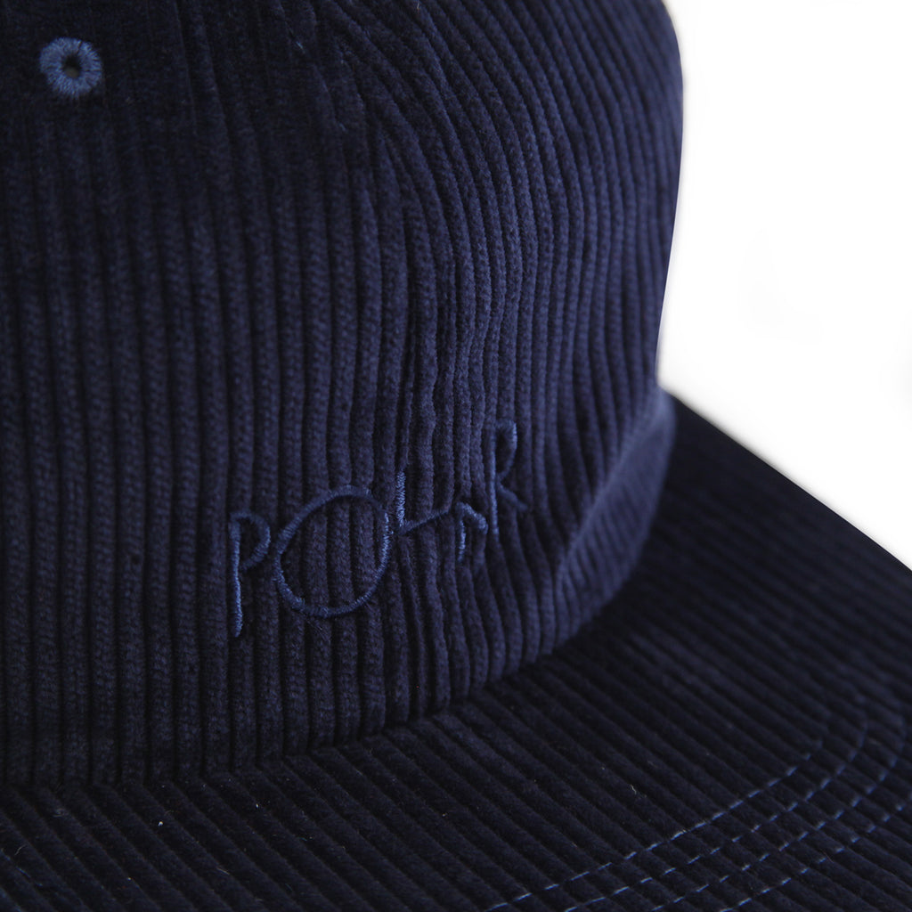 Polar Skate Co Corduroy Cap in Police Blue - Logo