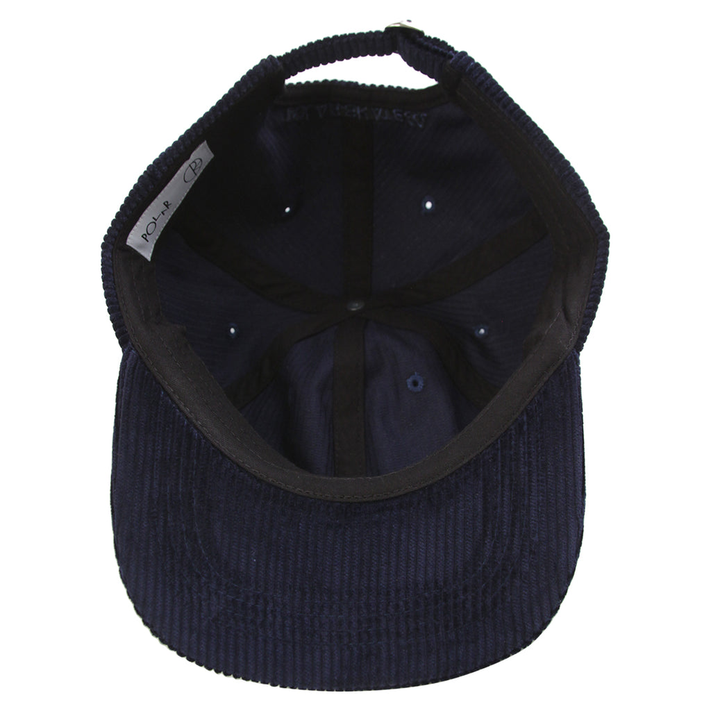 Polar Skate Co Corduroy Cap in Police Blue - Inside