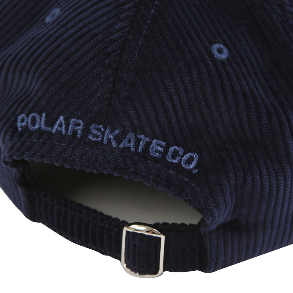 Polar Skate Co Corduroy Cap in Police Blue - Strap
