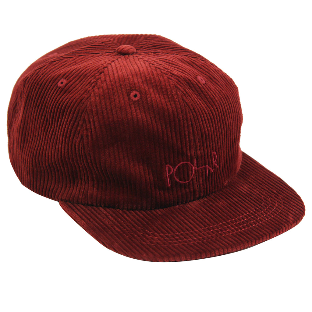 Polar Skate Co Corduroy Cap in Red