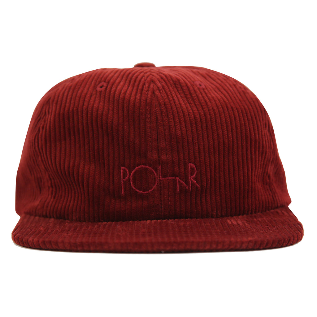 Polar Skate Co Corduroy Cap in Red - Front