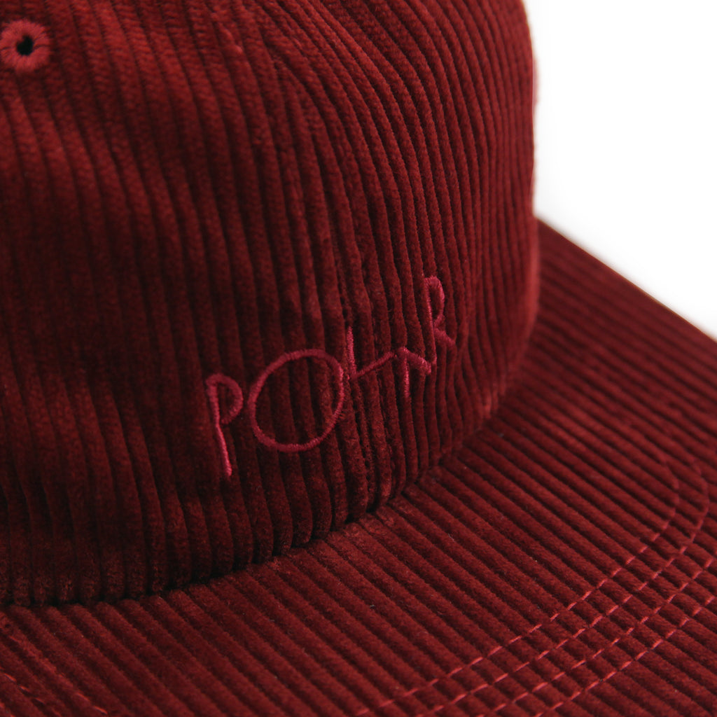Polar Skate Co Corduroy Cap in Red - Logo