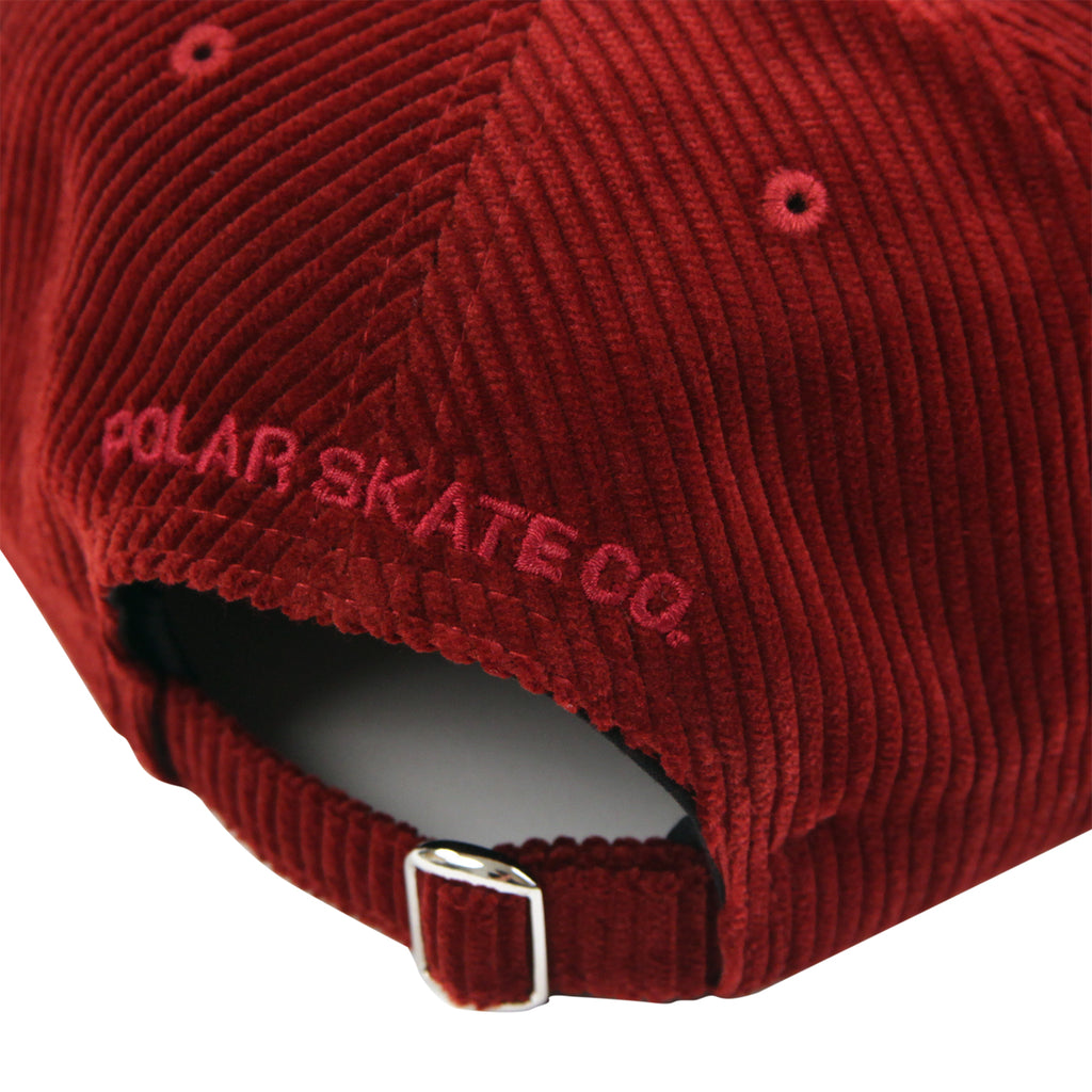 Polar Skate Co Corduroy Cap in Red - Strap