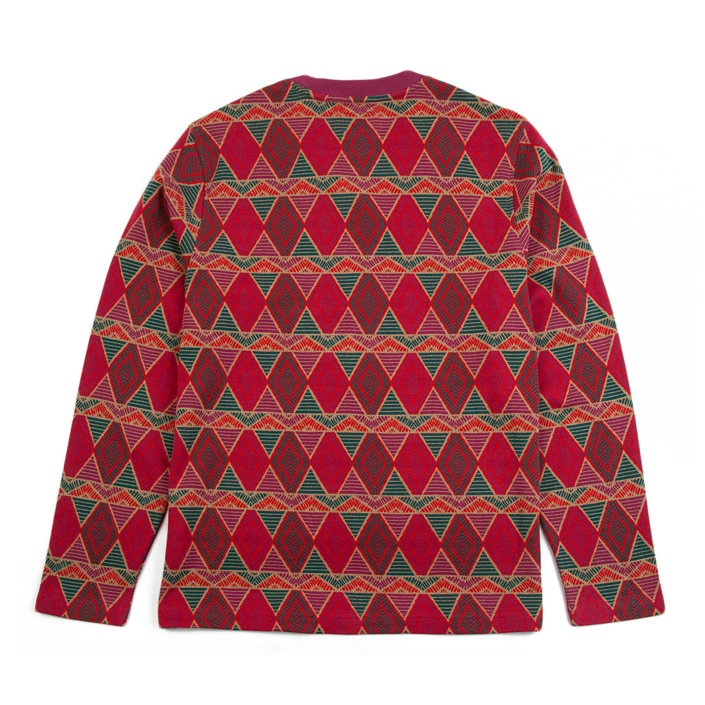 Stussy L/S Cuzco Crew in Berry - Back