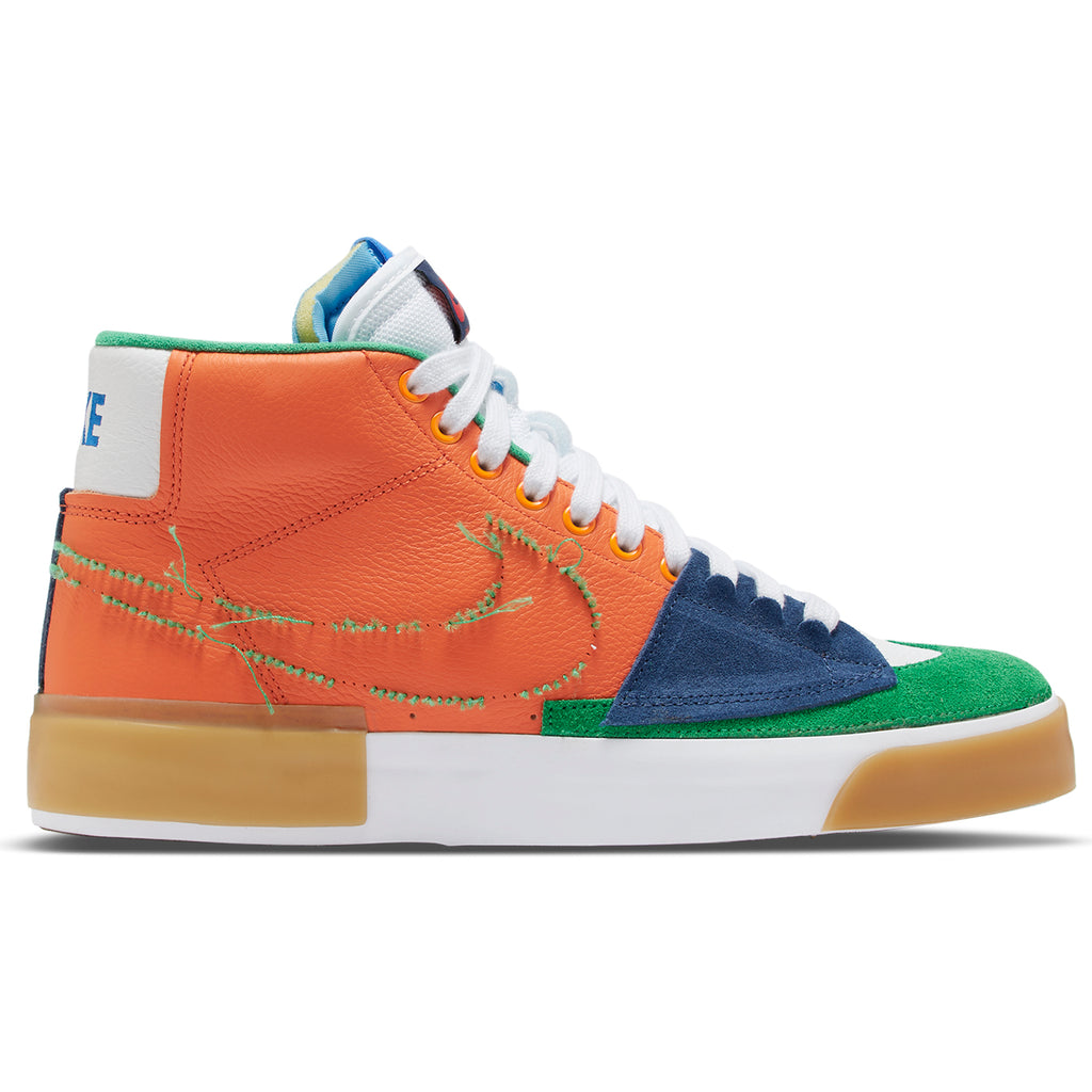 Nike SB  Zoom Blazer Mid Edge Shoes - Safety Orange / Lucky Green