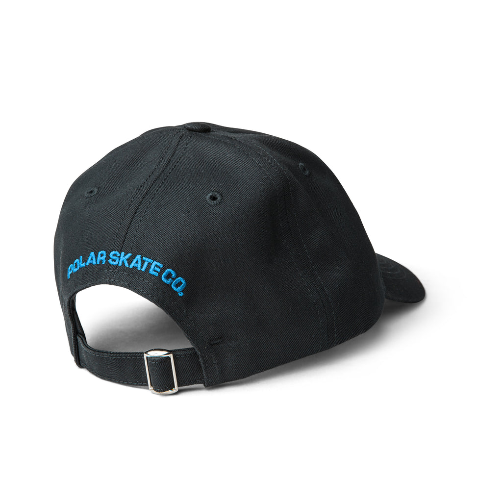 Polar Skate Co Dane Face Cap in Black - Back