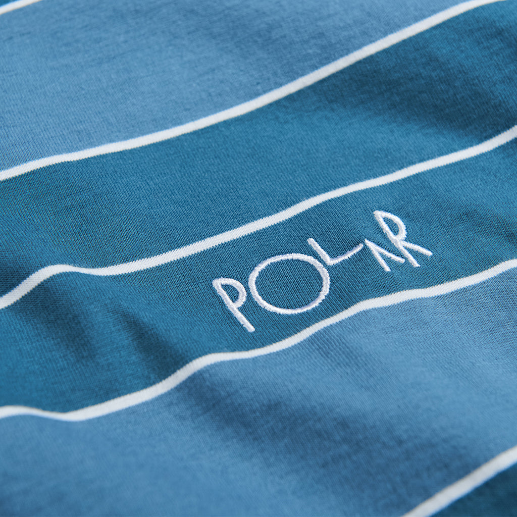 Polar Skate Co Dane T Shirt in Grey Blue - Detail