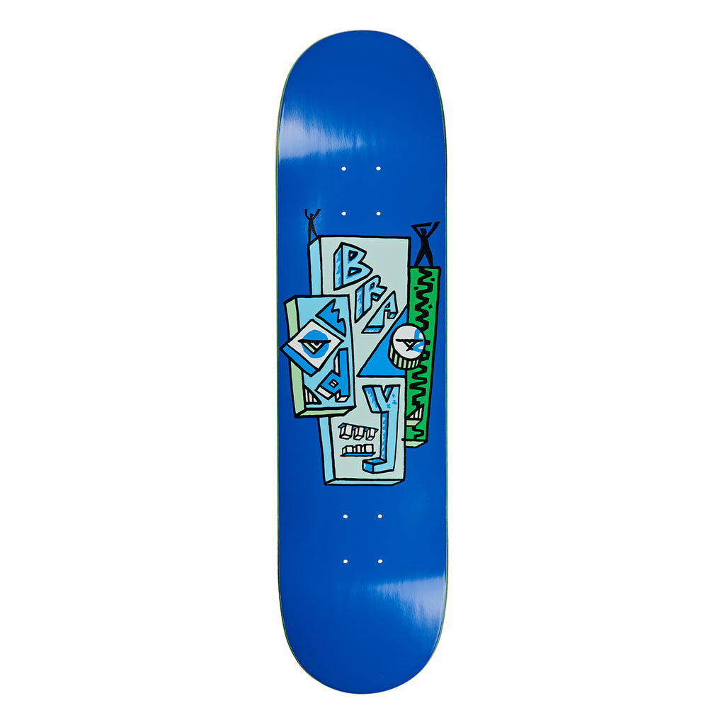 Polar Skate Co Dane Brady Skyscraper Blue Skateboard Deck in 8.5""
