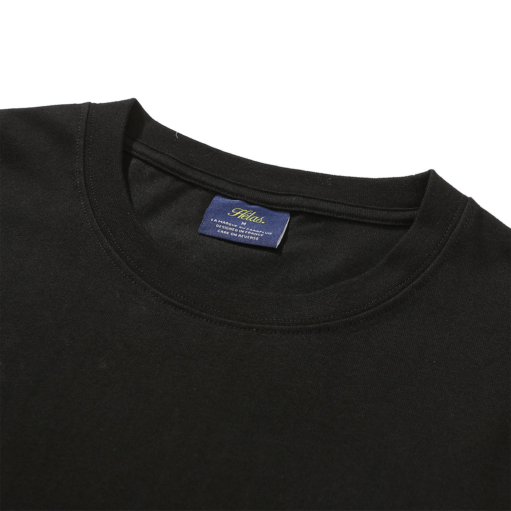 Helas L/S Degrade T Shirt in Black - Collar