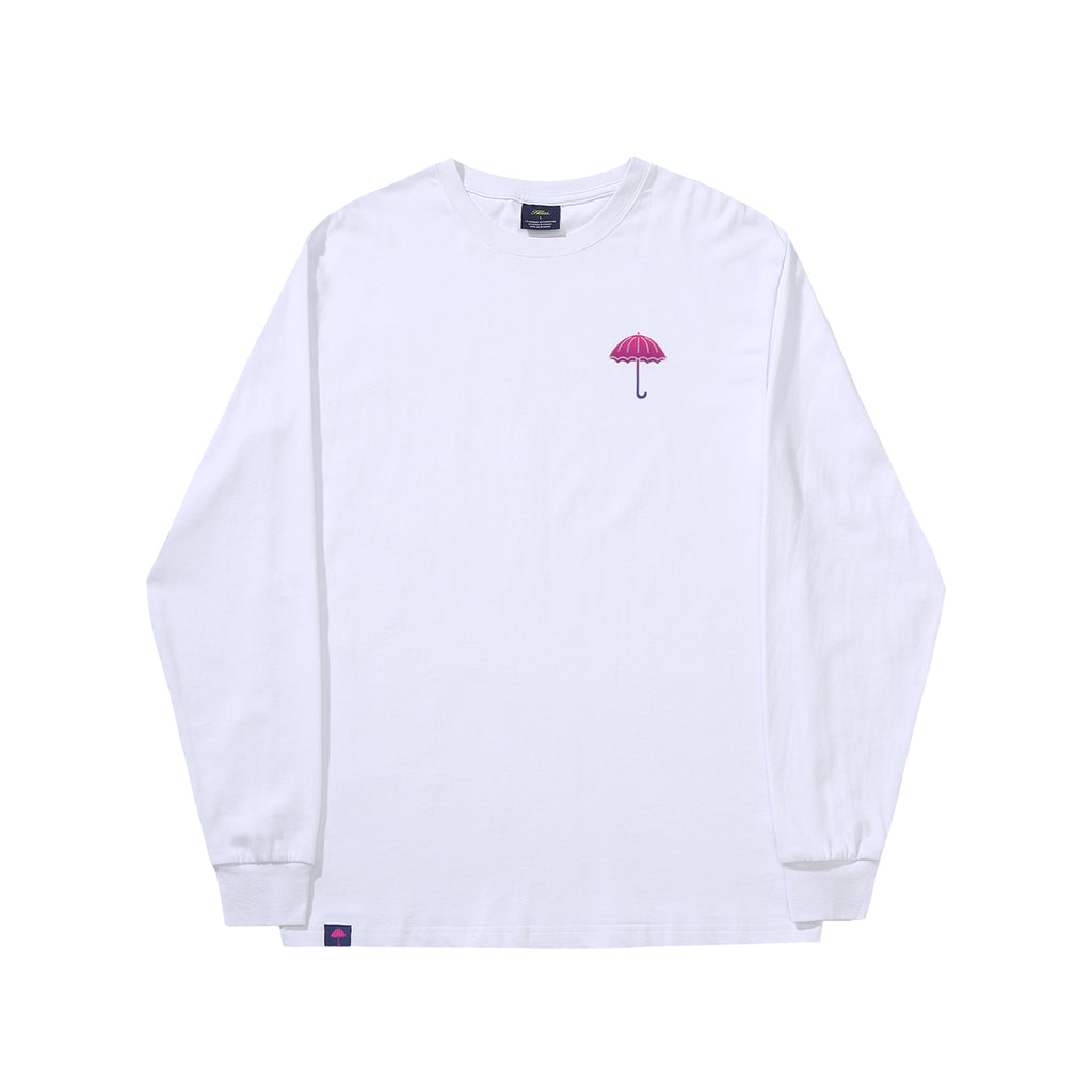 Helas L/S Degrade T Shirt in White - Front