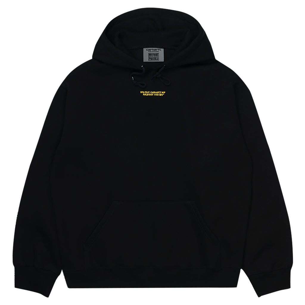 Carhartt WIP Relevant Parties Hooded DFA Sweat Black - Front