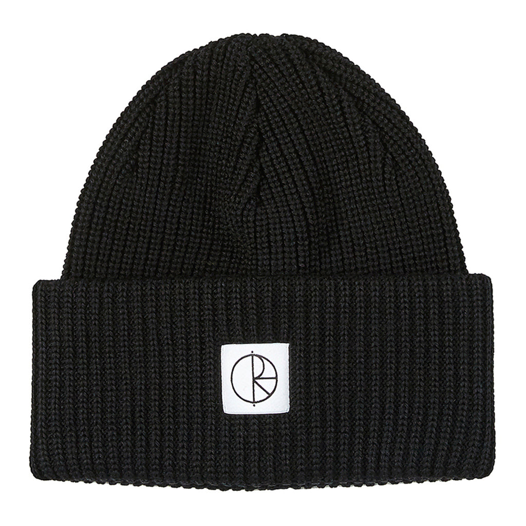 Polar Skate Co Double Fold Merino Beanie in Black