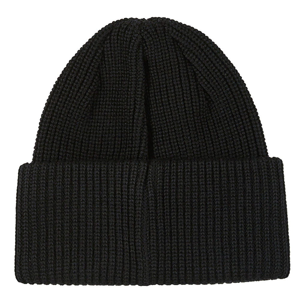 Polar Skate Co Double Fold Merino Beanie in Black - Back