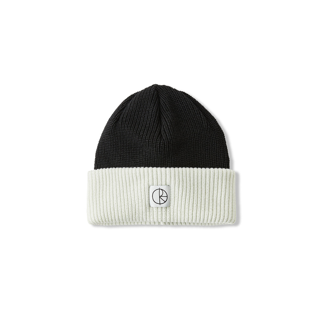 Polar Skate Co Double Fold Merino Beanie in Black / White