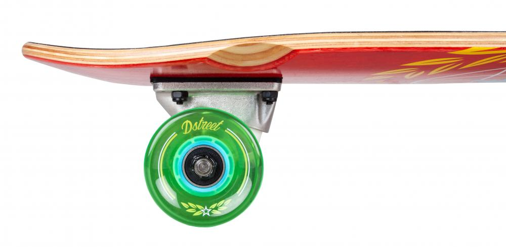 "D Street Cruiser Atlas Complete Skateboard 7.5"" Red - Wheels"