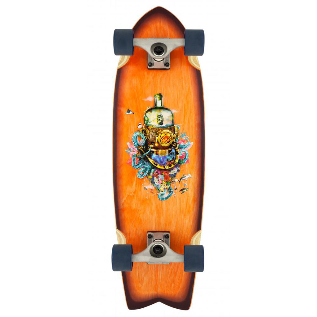 D Street Cruiser Nautical Natural Complete Skateboard in 8.8""
