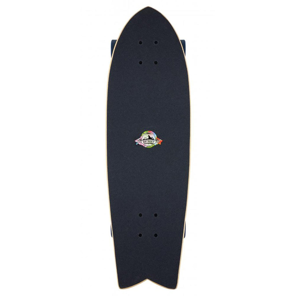 "D Street Cruiser Nautical Natural Complete Skateboard in 8.8"" - Top"