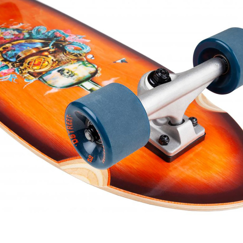 "D Street Cruiser Nautical Natural Complete Skateboard in 8.8"" - Detail"