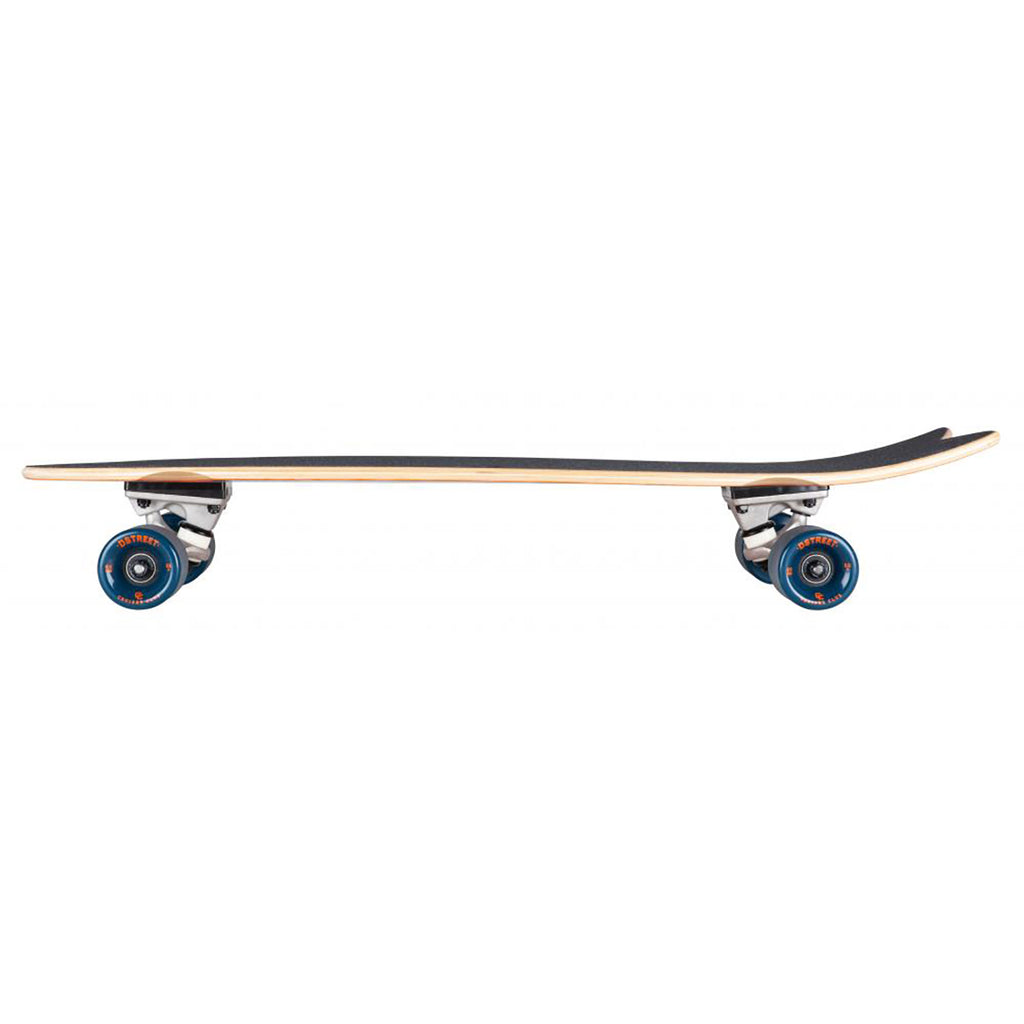 "D Street Cruiser Nautical Natural Complete Skateboard in 8.8"" - Side"