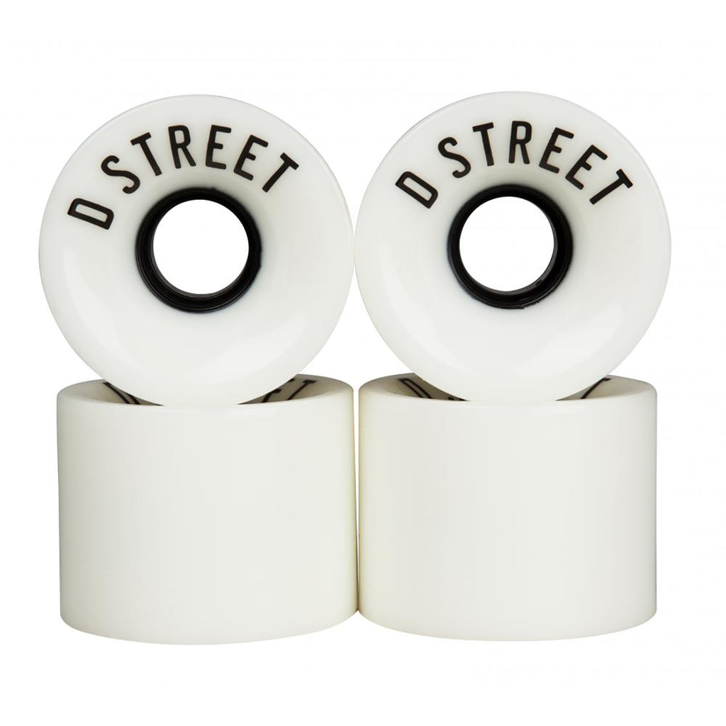 D Street 59 Cent 78A White Cruiser Wheels in 59mm - Detail