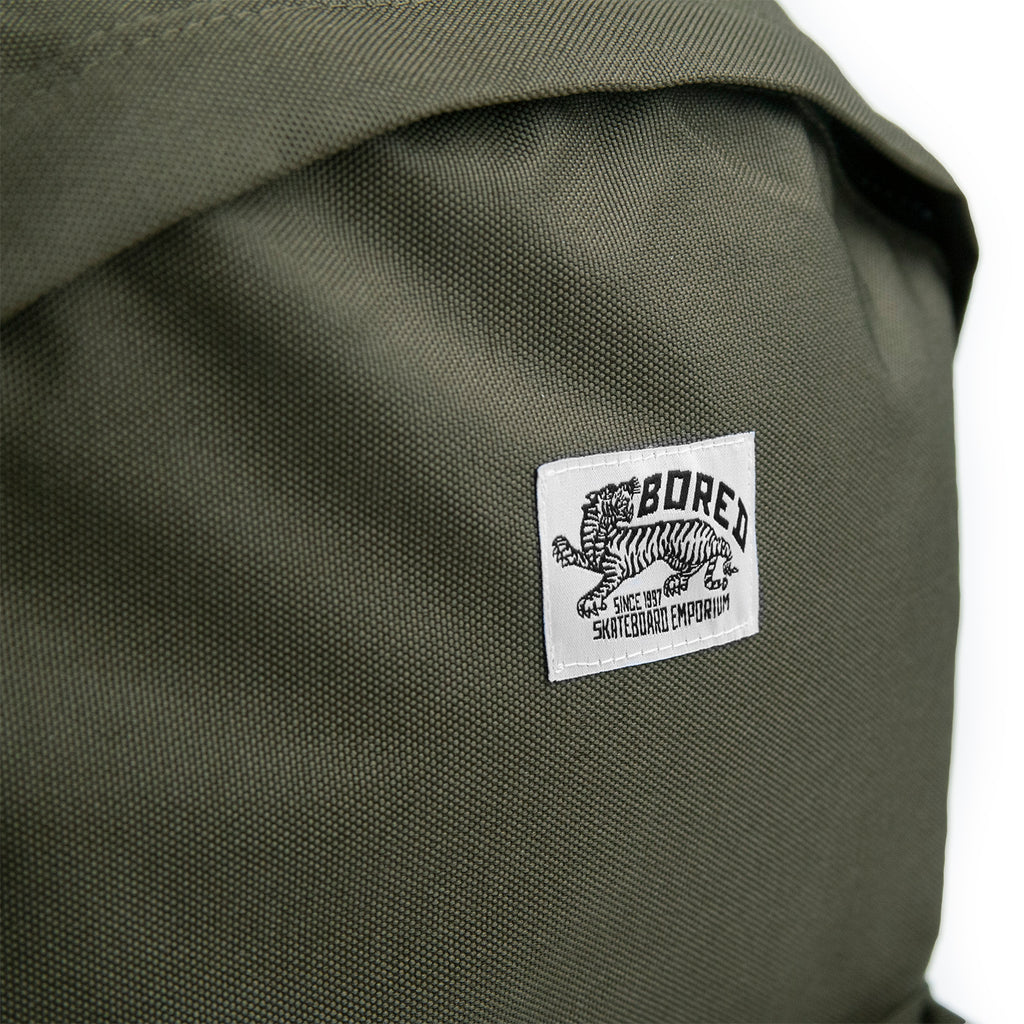 Bored of Southsea Daily Use Backpack in Military Green - Label