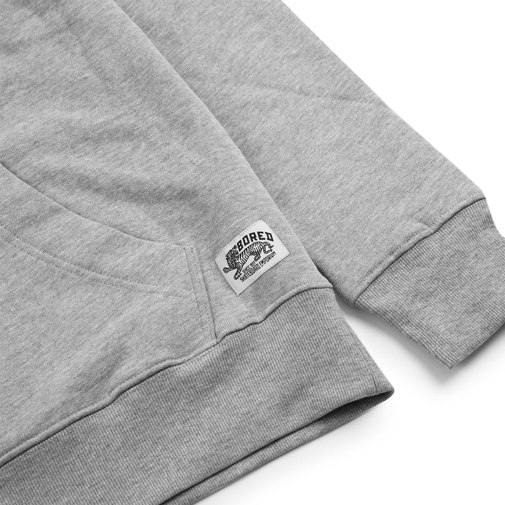 Bored of Southsea Daily Use Pullover Hoodie in Heather Grey - Label