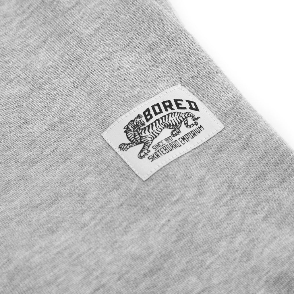 Bored of Southsea Daily Use Jogger Pant in Heather Grey - Label