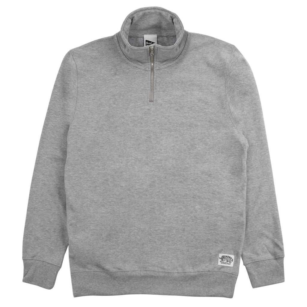 Bored of Southsea Daily Use Quarter Zip Sweatshirt in Heather Grey