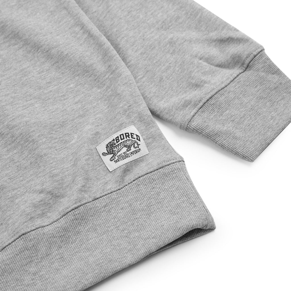 Bored of Southsea Daily Use Quarter Zip Sweatshirt in Heather Grey - Logo