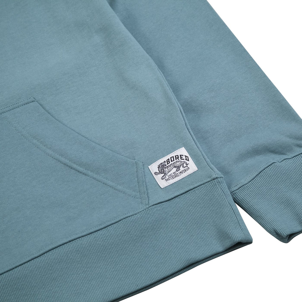 Bored of Southsea Daily Use Pullover Hoodie in Tile Blue - Label