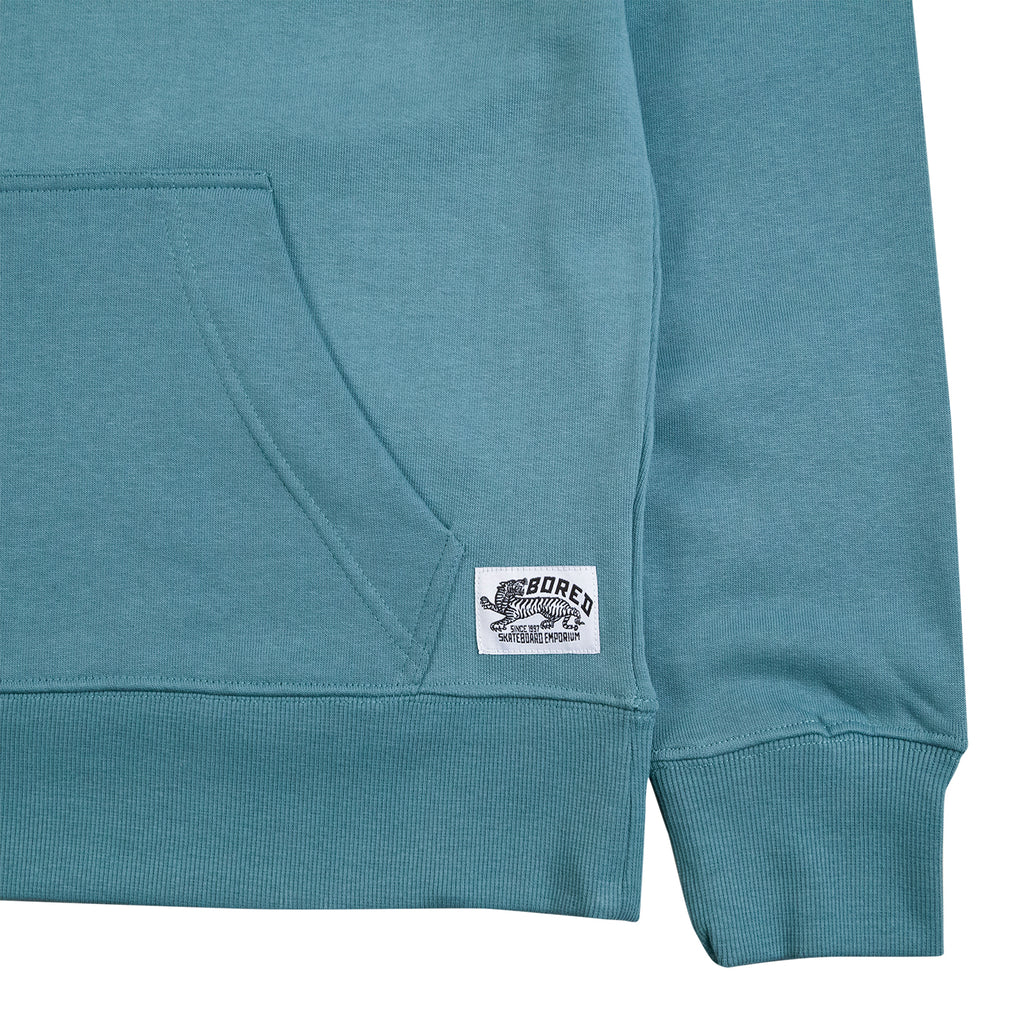 Bored of Southsea Daily Use Pullover Hoodie in Tile Blue - Cuff
