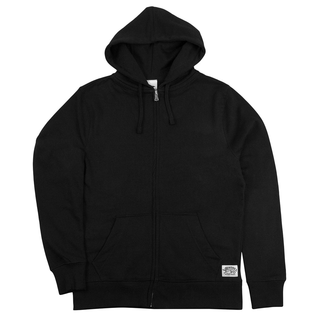 Bored of Southsea Daily Use Zip Up Hoodie in Black