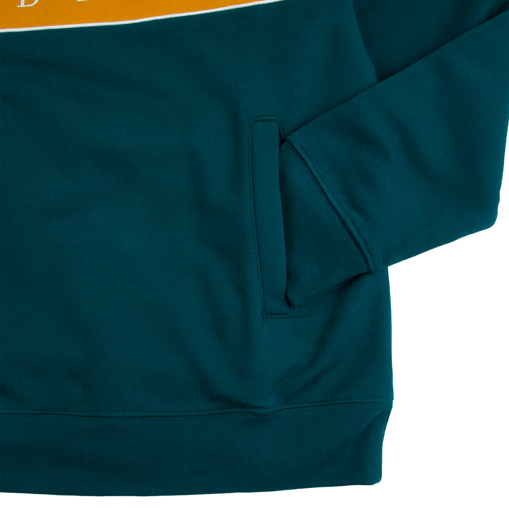 Obey Clothing Deal Mock Neck Sweat in Deep Teal - Cuff