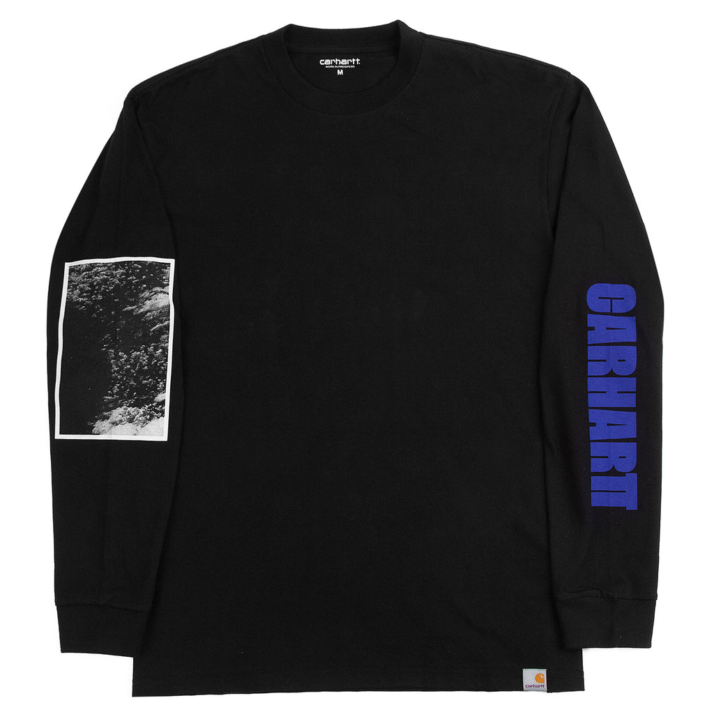 Carhartt WIP L/S Deep Space T Shirt in Black - Front