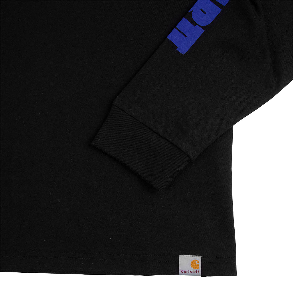 Carhartt WIP L/S Deep Space T Shirt in Black - Detail 2