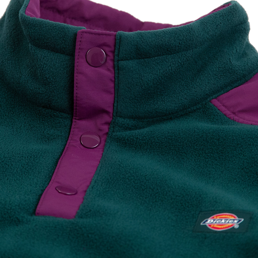 Dickies Denniston Fleece in Forest - Neck