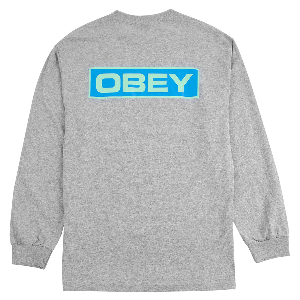 Obey Clothing Depot 2 L/S T Shirt in Heather Grey