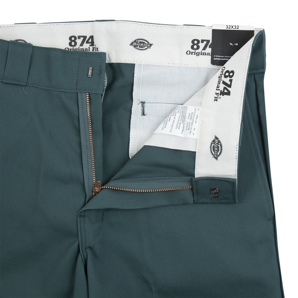 Dickies 874 Original Straight Pant in Lincoln Green - Unzipped