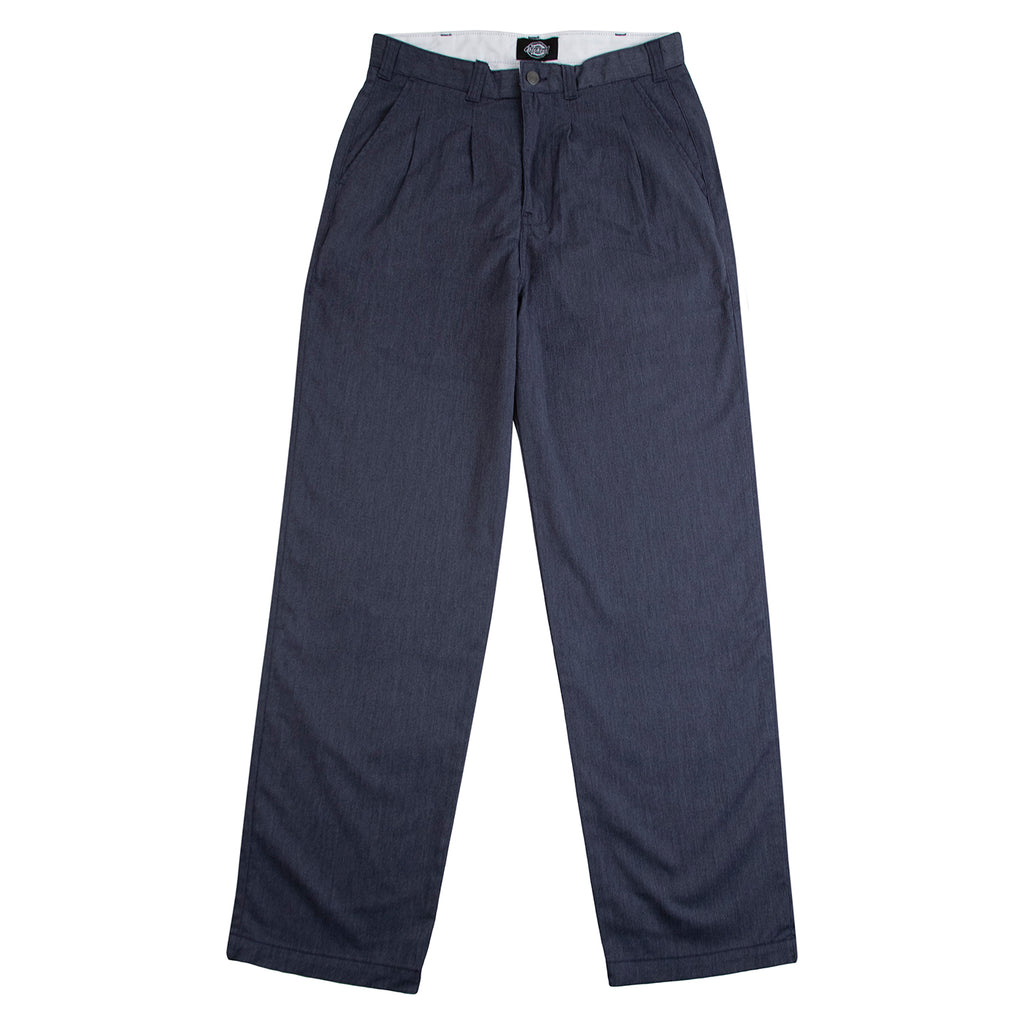 Dickies Clarkston Pleated Pants Blue - Front